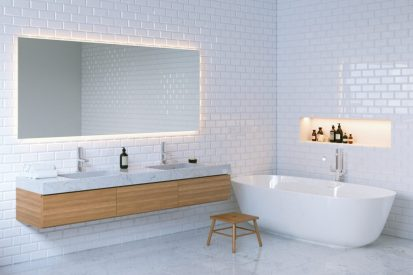 Clever Lighting Ideas for Your Too-Short Bathroom